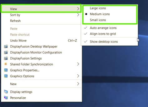 taille icone bureau comment changer la taille des icônes dans windows 10