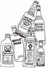 Vodka Bottle Drawing Tequila Getdrawings Drawings sketch template