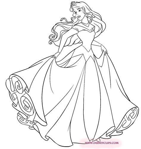 aurora coloring pages    print