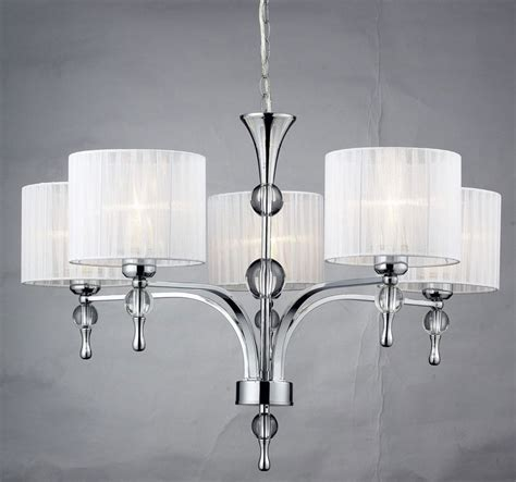 white 5 light chandelier with shades best home decor