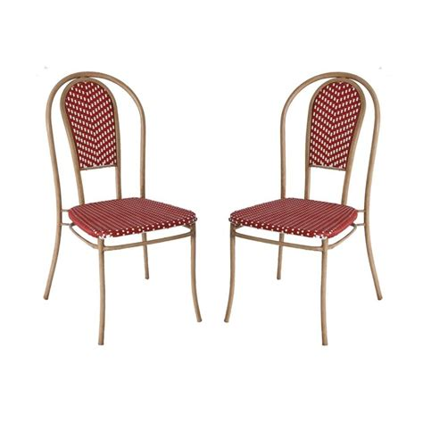 hton bay broussard patio wicker chair 2 pack