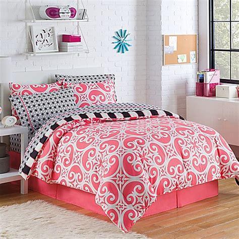 buy kennedy 8 piece reversible full comforter set in