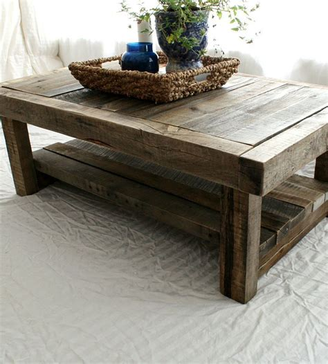 See more ideas about coffee table, barnwood coffee table, rustic furniture. 99 Best Of Large Chunky Coffee Table 2020   Wood coffee table rustic, Barnwood coffee table ...