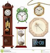 foto de Verschiedene Arten Von Uhren Vektor Abbildung