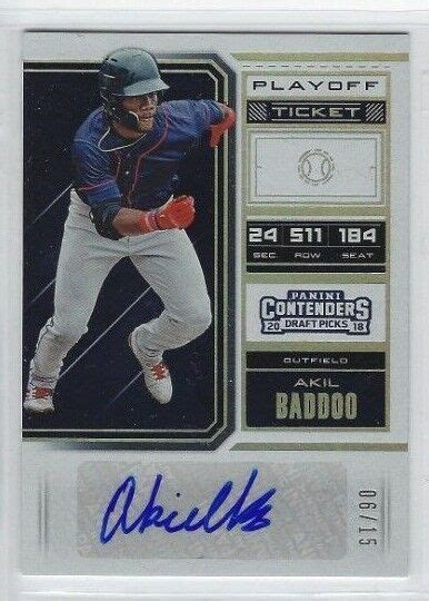 Akil Baddoo 2018 Panini Contenders Playoff Ticket Auto RC ...