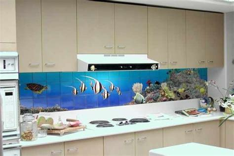 fish tiles kitchen fish splashback kitchen design kitchen 3752