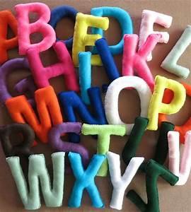 Wall letters fabric alphabet nursery letters felt for Felt letter sign