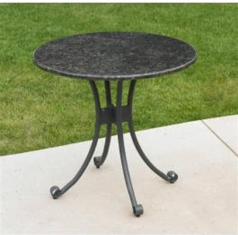 patio bistro table with granite top traditional