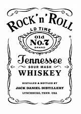 Jack Daniels Label Tattoo Roll Rock Templates Decor sketch template