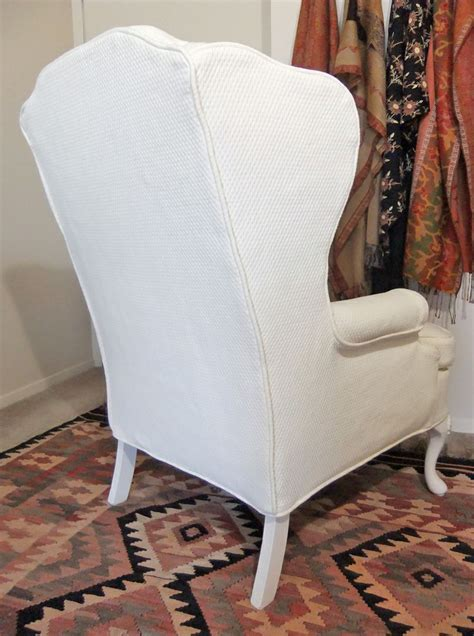 wingback chair slipcover custom made slipcover for wingback chair in cotton