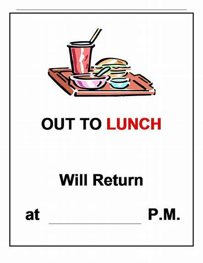 Sign Office Template Door Lunch Signs Templates