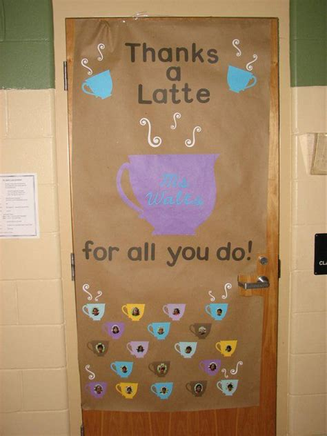 Bosss Day Door Decorations by Staff Appreciation Thanks A Latte And