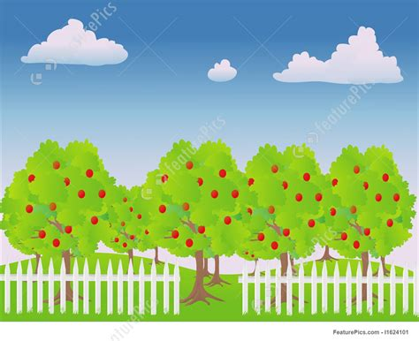apple orchard illustration apple orchard stock illustration i1624101 at featurepics