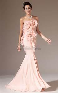 Light Purple Long Sleeve Strapless Chiffon Mermaid Pearl Pink Long Bridesmaid Dress