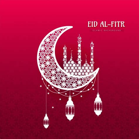 Ramadan Vectors Photos And Psd Files Free Download Eid Al Fitr Background With Ornamental Moon Vector Free Download