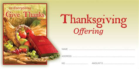 offering envelope fall thanksgiving give