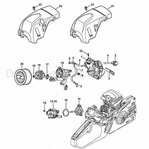 Stihl Ms 251 Chainsaw  Ms251 Cbe  Parts Diagram  Air Baffle