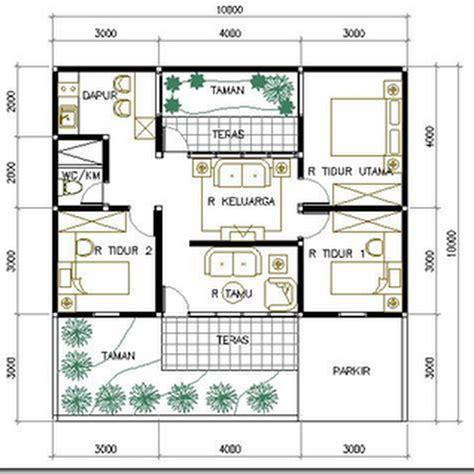 denah rumah ukuran 10 x 8 detail img online