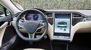 The minimalist, touchscreen-dominated cabin of the all-electric Tesla Model S | Car interior ...