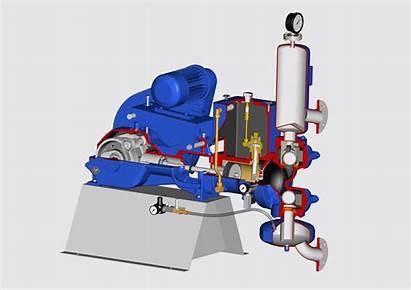 Pump Piston Animation Diaphragm Pumps Emmerich Sludge