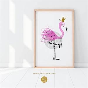 Poster Chambre Bébé : illustration flamant rose aquarelle les petits brins d 39 isabelle illustrations jeunesse ~ Teatrodelosmanantiales.com Idées de Décoration