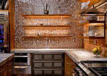 copper backsplash ideas  add glitter  glam   kitchen