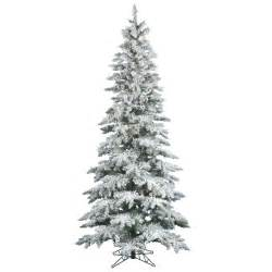 decoration ideas awesome slim white christmas tree with snow effect and black metal legs
