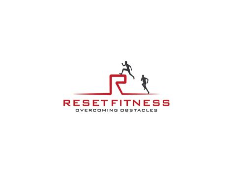 modern bold personal trainer logo design  reset