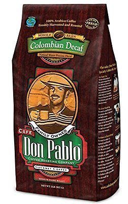 And using the freshest of coffee beans that make up their final product. 2LB Cafe Don Pablo Decaf Swiss Water Process Colombian Gourmet Coffee Decaffe... | Coffe ...