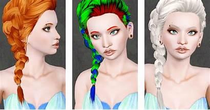Hair Braid Retexture Side Sims Hairstyle Female