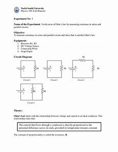 Physices Lab Ohm U0026 39 S Law