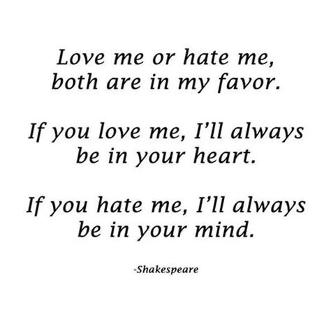 Love Me Or Hate Me Quotes Yahoo
