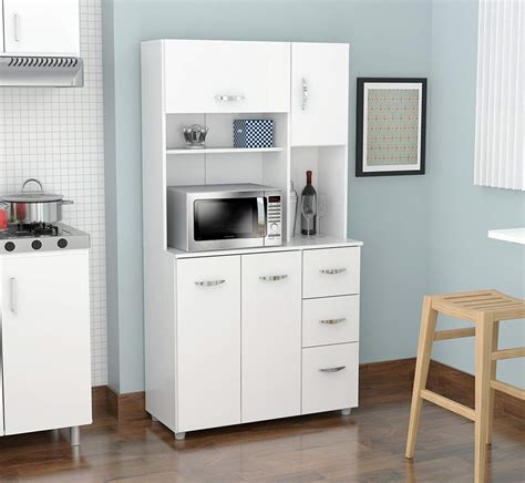microwave storage cabinet inval america gcm 042 4 door storage cabinet with