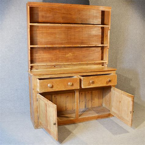 pine dresser welsh country kitchen display rack antiques