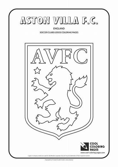 Aston Villa Coloring Logos Cool Soccer Colouring