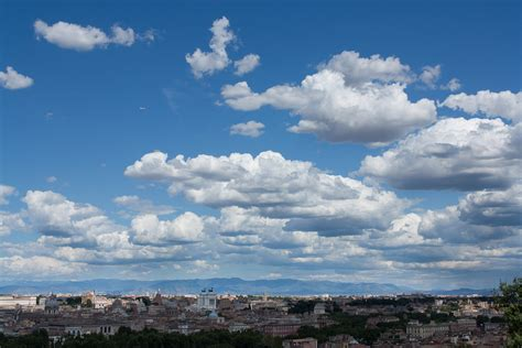 View Of The Sky by Clouds Formation With A Clear Sky View From Gianico