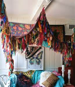 Boho Bed Canopy by Bohemian Bed Canopy Boho Hippy Vintage Scarves