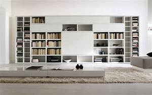 Cool home interior book storage within cool library room for Interior design bookshelf arrangement