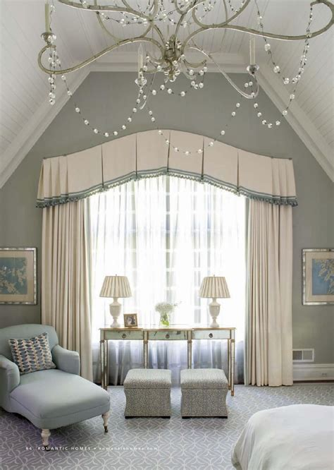 classical bedroom curtain curved window treatments