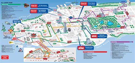 map   york manhattan tourist sights  attractions
