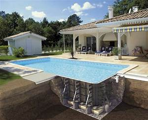construire sa piscine exterieure en 10 photos explicatives With terrasse piscine semi enterree 2 piscine exterieur 90 photos et idees inspirantes