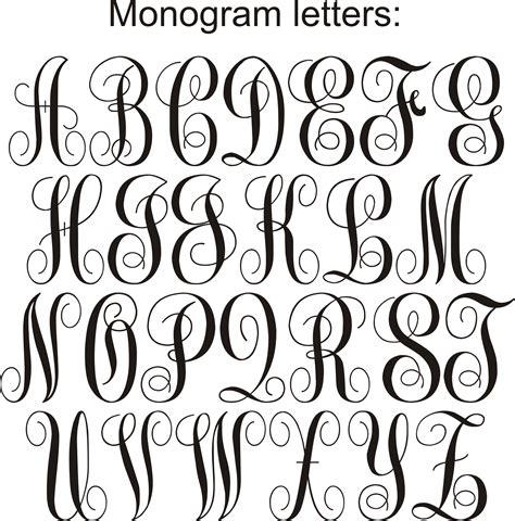 monogram lettersjpg fancy cursive fonts lettering alphabet fonts