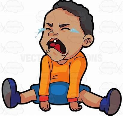 Crying Clipart Child Cartoon Boy Kid Cry