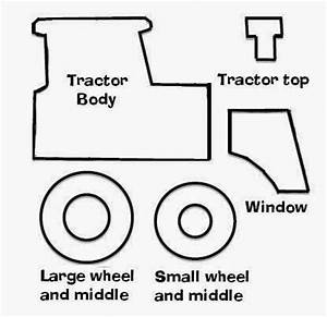 felt tractor ornament free pattern seuns pinterest With tractor template to print