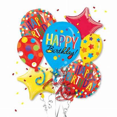 Balloons Birthday Happy Bouquet Foil Clipart Balloon