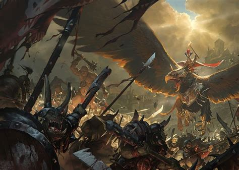 warhammer war total fantasy artstation artwork maniak slawomir empire concept chaos demons battle game illustration combat digital sigmar rpg totalwar