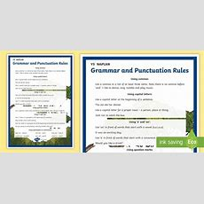 Nsw * New * Y3 Naplan Grammar & Punctuation Rules Display Poster