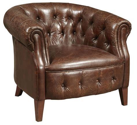 richard brown leather arm chair p006300 pulaski