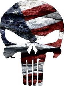 American Flag Punisher Skull Decal