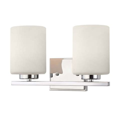 Two Light Bathroom Fixture by Modern Bathroom Light In Chrome Finish With Two Cylinder